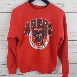 Vintage 49ers 80s NFL Champions crewneck sweater